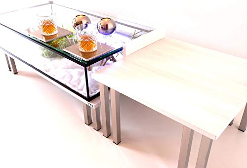 Table Basse Alain Floch Design Unique Bois Massif Blanc MODU